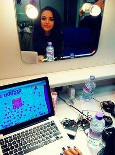 Jade from Little Mix mirror