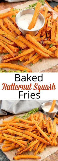 Crispy Baked Butternut Squash Fries