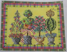 Kelly Clark NP Summertime Topiaries Stitch Guide HP Needlepoint Canvas   eBay