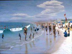 Boxing Day 91x120cm Seascape Paintings, Landscape Paintings, Painter Artist, Classic Paintings, Boxing Day, Sunshine Coast, Australian Artists, Figure Painting, Still Life