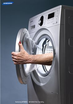 Samsung: Wrinkle Free Laundry. | #ads #marketing #creative #werbung #print #poster #advertising #campaign < repinned by www.BlickeDeeler.de