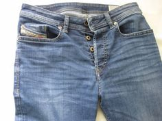 Diesel Men's BUSTER 0839H Jeans Blue Regular Slim Tapered Fit W27 L30 #Diesel…