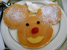 mickey mouse pancakes at the River Belle Terrace - Disneyland... what a great childhood memory