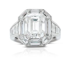 Rosendorff Couture Collection Rare 5.04 carat Emerald Cut Diamond Ring Engagement Rings Perth, Round Diamond Engagement Rings, Engagement Jewelry, Vintage Engagement Rings, Colored Diamond Rings, Emerald Cut Diamonds, White Diamonds, Titanic Jewelry, Beautiful Rings