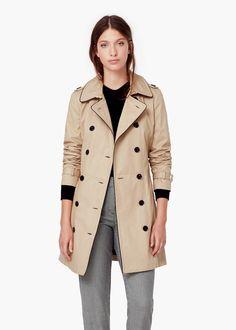 Trenchcoat aus baumwolle - Officewear für Damen | MANGO
