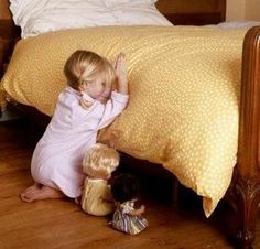 Child's prayer: Now I lay me down to sleep, I pray the Lord my soul to keep, if I die before I wake, I pray the Lord my soul to take, Amen:)