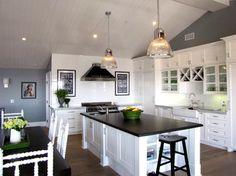 Black Granite Countertops Flat Finish | Eclectic Kitchen design by Orange County Media And Blogs Tara Bussema