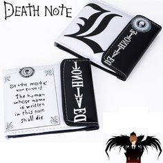Death Note Wallet Male Female Money Purses Billeteras PU Leather Card Holder for Students Teenagers Free Shipping