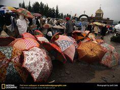 Addis Ababa Umbrellas, Ethiopia.