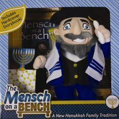 Jewish version of Elf on a Shelf...Mensch on a Bench.