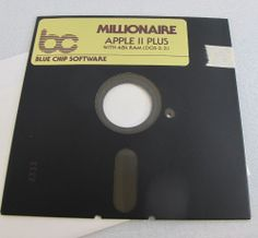 "Millionaire Apple II Video Game Vintage Blue Chip 5.25"" EA Floppy Disk 1980's"