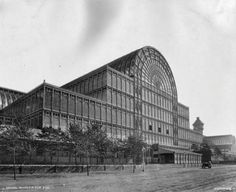 circa 1888: A south west view of the Crystal Palace, the exhibition hall designed by Sir Joseph Paxton, after it was reconstructed at Sydenham in south London. (Photo by London Stereoscopic Company/Getty Images)