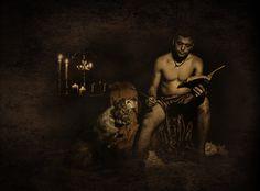 Cristían de la Calle Martín y su perro Nano en una instantánea que refleja un gladiador instruido.