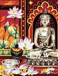grafico de punto de cruz para descargar en pdf, imprimir y bordar a Buda