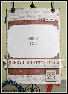 TERESA COLLINS DESIGN TEAM: Christmas Cottage Coundown flip album by Cheri Piles Part 5