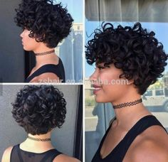Well Selling High Quality Short Kinky Curly Afro Puff With B.- Well Selling High Quality Short Kinky Curly Afro Puff With Bangs Synthetic Hair … Well Selling High Quality Short Kinky Curly Afro Puff With Bangs Synthetic Hair Wig For Black Women - Curly Hair Styles, Curly Hair Cuts, Short Hair Cuts, Natural Hair Styles, Short Curls, Short Curly Styles, Curly Wigs, Hair Wigs, Curly Pixie Haircuts