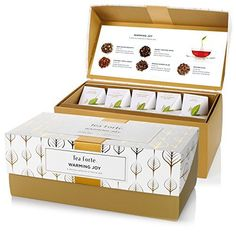 Tea Forte Warming Joy Presentation Box Featuring Seasonal & Festive Tea Blends - 20 Handcrafted Pyramid Tea Infusers - http://teacoffeestore.com/tea-forte-warming-joy-presentation-box-featuring-seasonal-festive-tea-blends-20-handcrafted-pyramid-tea-infusers/