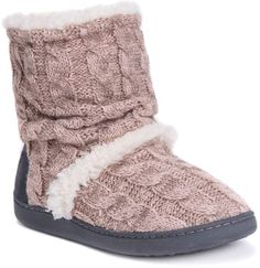 b7ce1beb05a9d Muk Luks Women s Holly Knit Boot Slippers Petite Fashion Tips