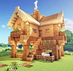 Minecraft Bauwerke, Casa Medieval Minecraft, Minecraft House Plans, Minecraft Mansion, Cute Minecraft Houses, Minecraft House Tutorials, Minecraft House Designs, Amazing Minecraft, Minecraft Construction