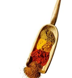 Scoop of colourful dry spices