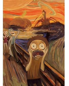 "1,556 Beğenme, 22 Yorum - Instagram'da Rick and Morty Memes (@rick.morty.memes): ""When my Art teacher asks me what art inspired me. """