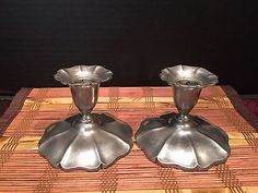 Vintage-Flagg-Homan-Pewter-132-Two-Candlestick-Holders-3-x4