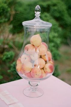 49 Ideas for wedding table decorations peach centerpieces Wedding Table Decorations, Wedding Centerpieces, Tall Centerpiece, Centerpiece Ideas, Wedding Pics, Summer Wedding, Wedding Ideas, Peach Wedding Theme, Olive Wedding