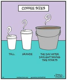 This is even more true for the Monday after daylight savings! !