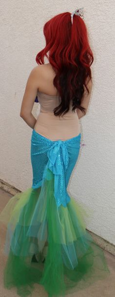 DIY Mermaid costume DIY ariel little mermaid costume (1) lol Katie's telling me somethin