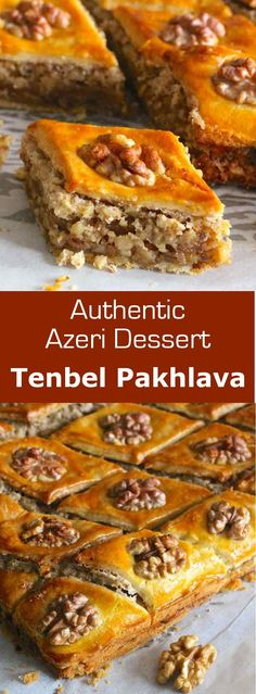 Tenbel pakhlava (lazy baklava) is the recipe of a delicious and easy to make baklava from Azerbaijan. Tenbel pakhlava (lazy baklava) is the recipe of a delicious and easy to make baklava from Azerbaijan. Dinner For One, Turkish Recipes, Greek Recipes, Ethnic Recipes, Delicious Desserts, Dessert Recipes, Macedonian Food, Good Food, Yummy Food