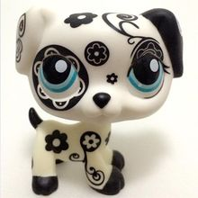 Pet shop Lovely Pet Shop LPS toys rare black& white folwer DALMATIAN dog Christmas gifts(China (Mainland))