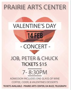 Valentine's Day Concert on February 14 at North Platte's Prairie Arts Center.