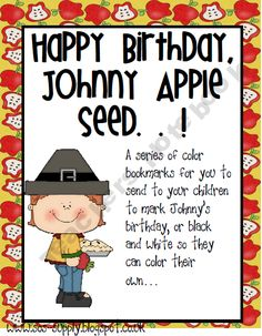 johnny appleseed birthday 148 Best Apples/Johnny Appleseed Activities for the Classroom  johnny appleseed birthday