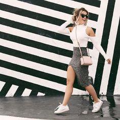 #lookdodia #outfit #lookoftheday #cool #moda #grey #white #tenisbranco