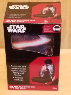 "DISNEY STAR WARS KYLO SEAT COVER CAR TRUCK ACCESSORIES ""LOW BACK"" BUCKET ~ NEW #disney"