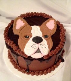 2D French bulldog - Cake by Caroline Diaz