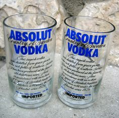 Vodka bottles turned to cups.