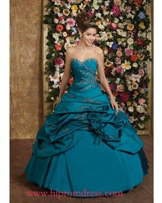 Google Image Result for http://www.dress-delight.com/images/promdressesuk/teal-ball-gown-sweetheart-and-strapless-bandage-floor-length-quinceanera-dresses-with-embrodiery-and-ruffles-prom01205.jpg