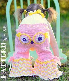 fiesta owl pants and ruffled bloomer shorts crochet pattern pdf. Super Cute!