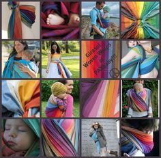 Girasol sure knows how to weave a rainbow!   #babywearing