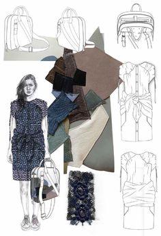 Fashion Sketchbook - fashion illustration & leather samples; fashion portfolio // Joanna Fisher