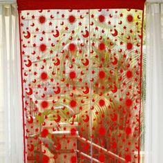Amazon.com - Sun Moon Star Pattern Tassel Door String Curtain Window Room Divider (Purple) -