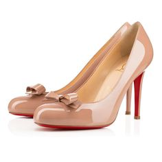 6f04756a56a0a6 Christian Louboutin Roche Mule Peep Toe Pumps Oyster Leather. See more.  Simplenodo Nude High Heels