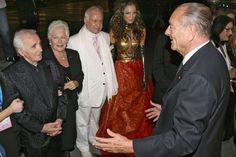 Charles Aznavour, Line Renaud, Jean-Claude Brialy et Jacques Chirac en September 2006 à Erevan. Belle Photo, Obama, Sari, Film, Two Daughters, Grief, Saree, Movie, Film Stock