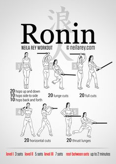 Ronin Workout. Time to bust out my sword.