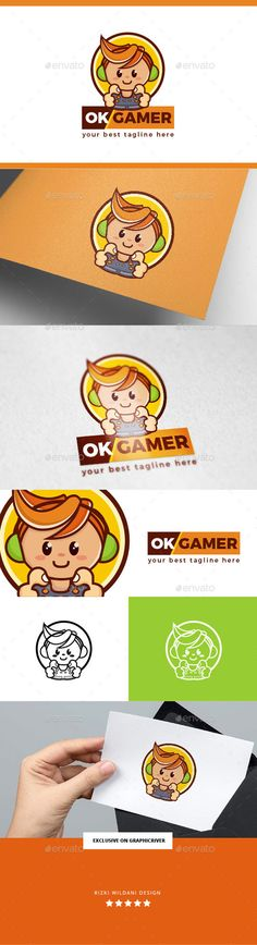 OK Gamer Geek Logo Template — Vector EPS #geek #application • Available here → https://graphicriver.net/item/ok-gamer-geek-logo-template/18745070?ref=pxcr