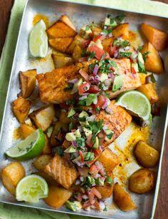 Mexican salmon | Not sure what to cook tonight? Don't panic, why don't you try this Mexican salmon? Ready in 35 minutes you really can't go wrong!