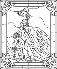 73 Best Stained Glass Coloring Pages for Adults images