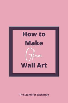 This is a great guide to make a stunning piece of wall art. This piece of art is going to light up any room in your home. Everytime someone comes over it will spark a conversation. Then you can tell them that you created this masterpiece! Imagine how proud you will be and you'll know the entire time that it was super simple to create! This tutorial is really easy to follow and doesn't have a lot of items to buy. #beautiful #wallart #glam #moms #easy #craft Pink Office Decor, Great Business Ideas, Glam Bedroom, New Bus, Crushed Glass, Diy Wall Art, Super Simple, Conversation, How To Apply