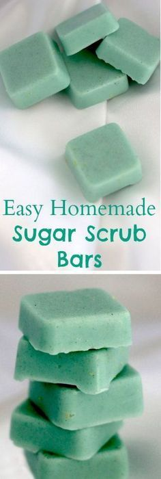 Easy homemade sugar scrub bars cup coconut oil cup melt and pour soap base drops essential oil 1 cup sugar Silicone mold Colorant (optional) Diy Cosmetic, Sugar Scrub Homemade, Homemade Butter, Diy Scrub, Bath Scrub, Ideias Diy, Diy Spa, Homemade Beauty Products, Soap Recipes